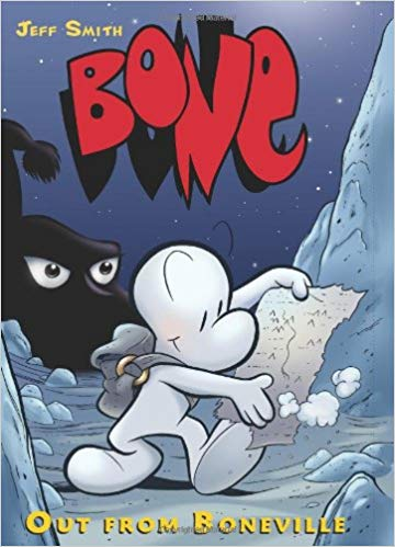 Cover of Bone Volume 1: Out From Boneville by Jeff Smith