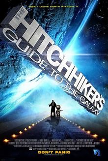 movie poster of Hitchhiker's Guide to the Galaxy