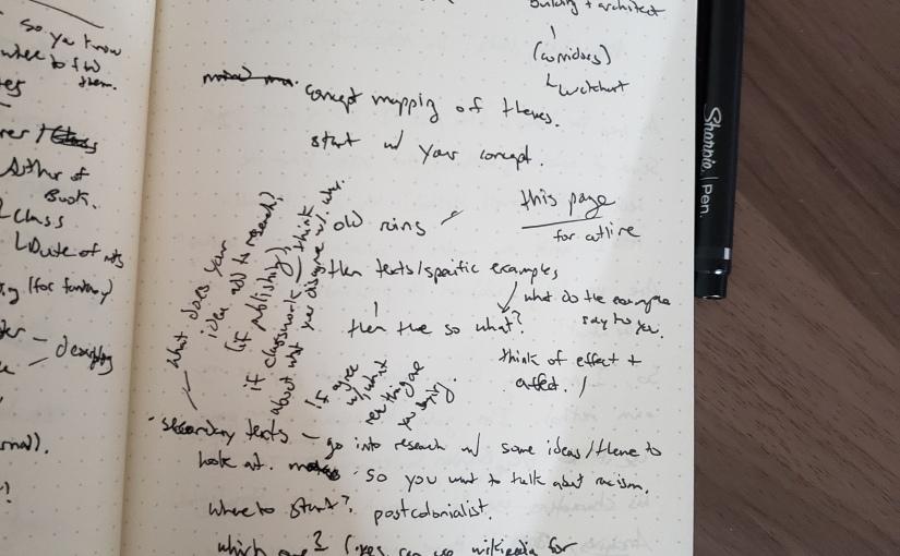 The University 411: Note-taking Part 1, or the Jasnah KholinMethod